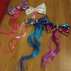 4 piece hair bow set